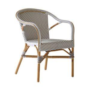 Madeleine-chair-armrest-Rattan-black-white